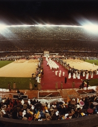 Camp Nou Match accueille le Pape Jean-Paul II le 7 novembre 1982
